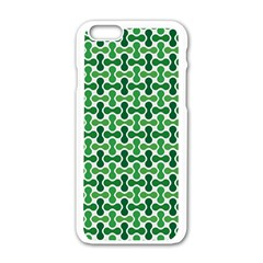 Green White Wave Apple Iphone 6/6s White Enamel Case by Alisyart
