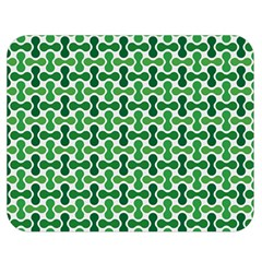 Green White Wave Double Sided Flano Blanket (medium)  by Alisyart