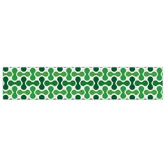 Green White Wave Flano Scarf (small) by Alisyart