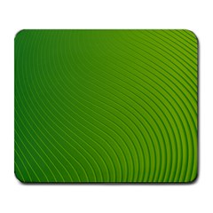 Green Wave Waves Line Large Mousepads by Alisyart