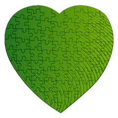 Green Wave Waves Line Jigsaw Puzzle (heart) by Alisyart