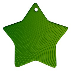 Green Wave Waves Line Star Ornament (two Sides) by Alisyart