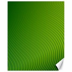 Green Wave Waves Line Canvas 16  X 20   by Alisyart