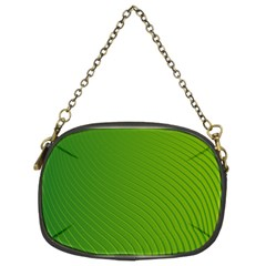 Green Wave Waves Line Chain Purses (two Sides)  by Alisyart