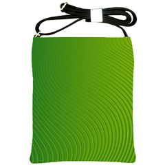 Green Wave Waves Line Shoulder Sling Bags by Alisyart