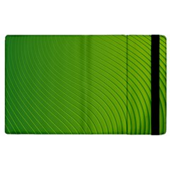 Green Wave Waves Line Apple Ipad 3/4 Flip Case by Alisyart