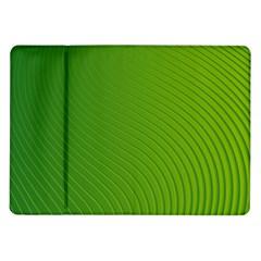 Green Wave Waves Line Samsung Galaxy Tab 10 1  P7500 Flip Case by Alisyart