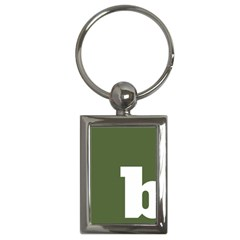 Square Alphabet Green White Sign Key Chains (rectangle)  by Alisyart