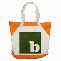 Square Alphabet Green White Sign Accent Tote Bag by Alisyart