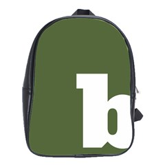 Square Alphabet Green White Sign School Bags(large)  by Alisyart