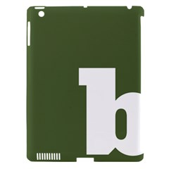 Square Alphabet Green White Sign Apple Ipad 3/4 Hardshell Case (compatible With Smart Cover) by Alisyart