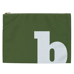 Square Alphabet Green White Sign Cosmetic Bag (xxl)  by Alisyart