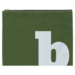 Square Alphabet Green White Sign Cosmetic Bag (xxxl)  by Alisyart