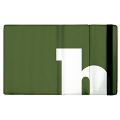 Square Alphabet Green White Sign Apple Ipad 2 Flip Case by Alisyart