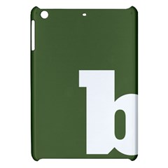 Square Alphabet Green White Sign Apple Ipad Mini Hardshell Case by Alisyart