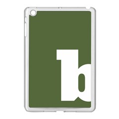 Square Alphabet Green White Sign Apple Ipad Mini Case (white) by Alisyart