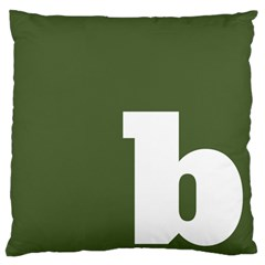 Square Alphabet Green White Sign Large Flano Cushion Case (one Side) by Alisyart