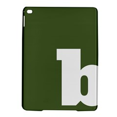 Square Alphabet Green White Sign Ipad Air 2 Hardshell Cases by Alisyart