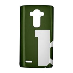 Square Alphabet Green White Sign Lg G4 Hardshell Case by Alisyart