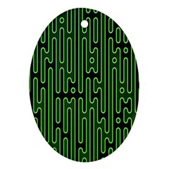 Pipes Green Light Circle Ornament (oval) by Alisyart
