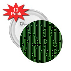 Pipes Green Light Circle 2 25  Buttons (10 Pack)  by Alisyart