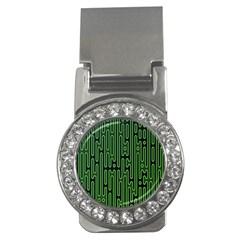 Pipes Green Light Circle Money Clips (cz)  by Alisyart