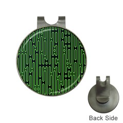 Pipes Green Light Circle Hat Clips With Golf Markers by Alisyart