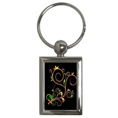 Flowers Neon Color Key Chains (rectangle)  by Simbadda