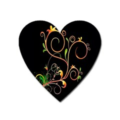 Flowers Neon Color Heart Magnet by Simbadda