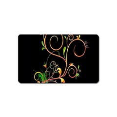 Flowers Neon Color Magnet (name Card) by Simbadda