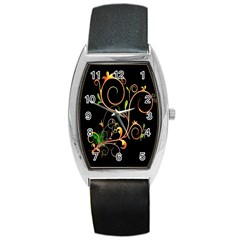 Flowers Neon Color Barrel Style Metal Watch by Simbadda