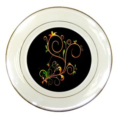 Flowers Neon Color Porcelain Plates by Simbadda