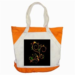 Flowers Neon Color Accent Tote Bag by Simbadda
