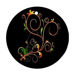 Flowers Neon Color Round Ornament (two Sides) by Simbadda