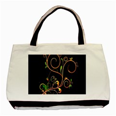 Flowers Neon Color Basic Tote Bag (two Sides) by Simbadda