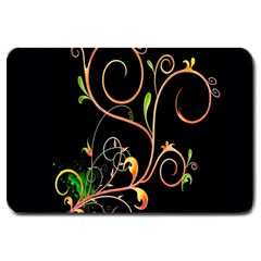 Flowers Neon Color Large Doormat  by Simbadda