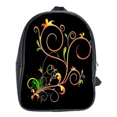 Flowers Neon Color School Bags(large)  by Simbadda
