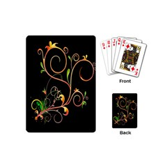 Flowers Neon Color Playing Cards (mini)  by Simbadda