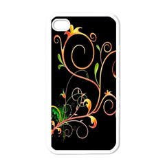 Flowers Neon Color Apple Iphone 4 Case (white) by Simbadda