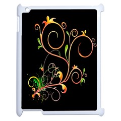 Flowers Neon Color Apple Ipad 2 Case (white) by Simbadda