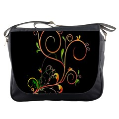 Flowers Neon Color Messenger Bags by Simbadda
