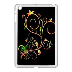 Flowers Neon Color Apple Ipad Mini Case (white) by Simbadda
