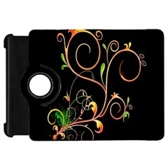 Flowers Neon Color Kindle Fire Hd 7  by Simbadda