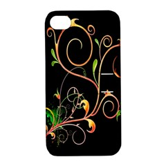 Flowers Neon Color Apple Iphone 4/4s Hardshell Case With Stand by Simbadda