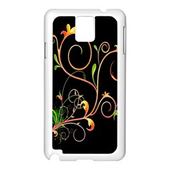 Flowers Neon Color Samsung Galaxy Note 3 N9005 Case (white) by Simbadda