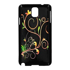 Flowers Neon Color Samsung Galaxy Note 3 Neo Hardshell Case (black) by Simbadda