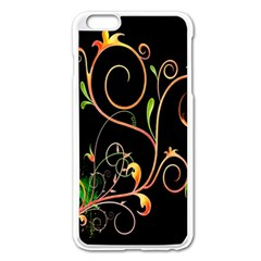 Flowers Neon Color Apple Iphone 6 Plus/6s Plus Enamel White Case by Simbadda