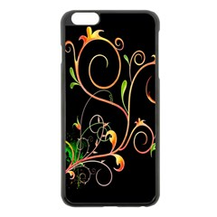 Flowers Neon Color Apple Iphone 6 Plus/6s Plus Black Enamel Case by Simbadda