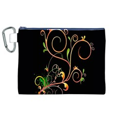 Flowers Neon Color Canvas Cosmetic Bag (xl) by Simbadda