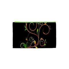 Flowers Neon Color Cosmetic Bag (xs) by Simbadda